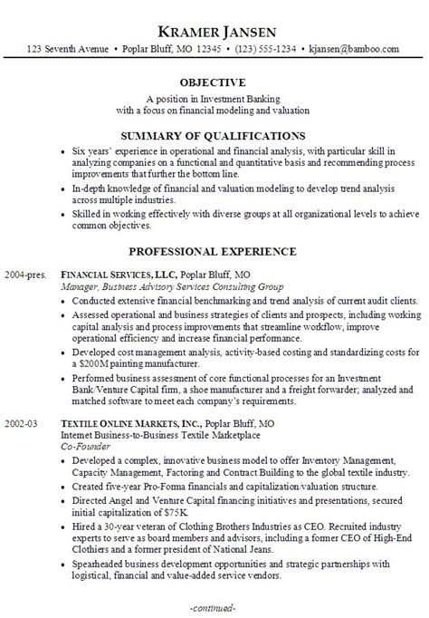 finance resume objective wondrous 8 corporate cv ideas example