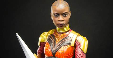 marvel legends okoye black panther baf photo shoot the