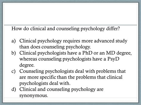 clinical psychology psy 334 introduction to clinical psychology psych test 1 review intro and research ppt