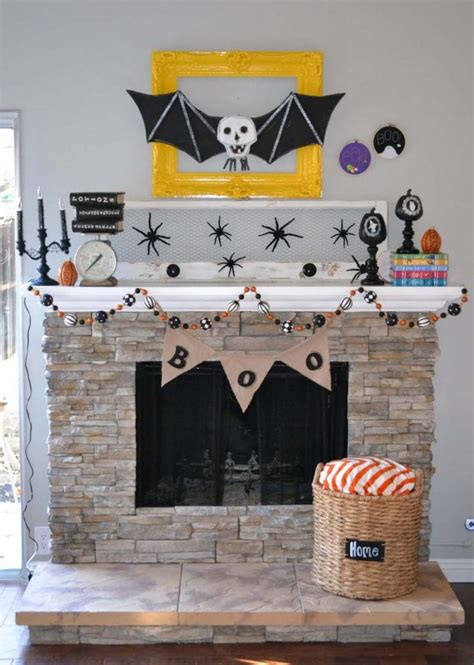 halloween home decor wholesale in awesome yellow then our first halloween fireplace nest little miss momma