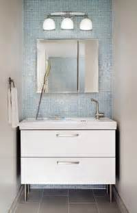 design ideas small white bathroom vanities:  small white bathroom cabinet and contemporary wall lamp ideas
