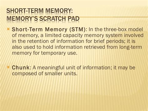 pattern or meaningful unit of information memory