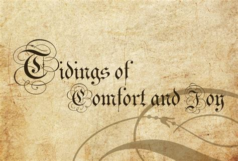 Tidings Of Comfort And by Dr Michael A Marinelli Archives Archmere Academy
