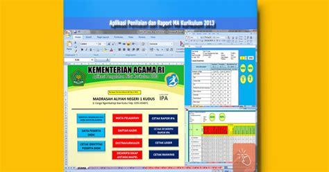 Software Lp2p aplikasi penilaian dan raport ma kurikulum 2013