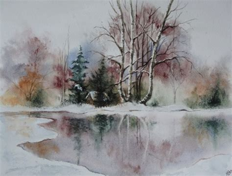Aquarell Nägel by Ardennes En Hiver Abby Barbouille