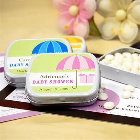 Baby Shower Mint Tins by Baby Shower Umbrella Personalized Mint Tins