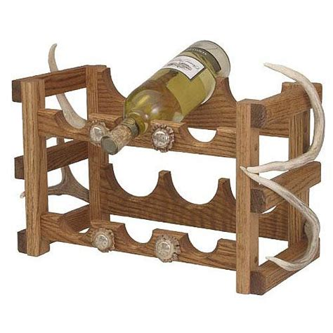 antler wine rack oak wine rack with antler accents