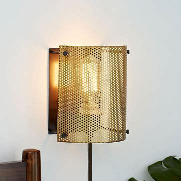 perforated metal sconce west elm