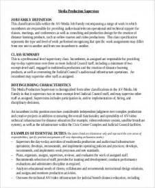 production supervisor description sle 9 exles in word pdf