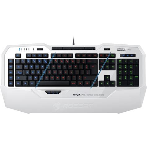 Roccat Isku Gaming Keyboard Roccat Isku Fx Multi Color Gaming Keyboard White Roc 12 921