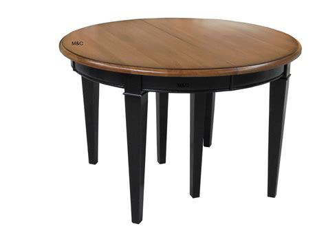 image de la table ronde revger table ronde bois massif rallonge id 233 e