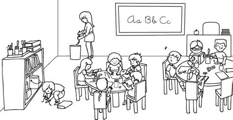 dibujos para colorear de clase dominical un salon de clase para colorear imagui