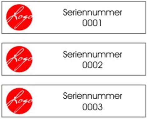 Buchstaben Aufkleber Drucken Lassen by Personalisierte Aufkleber Mit Seriennummer Variablen