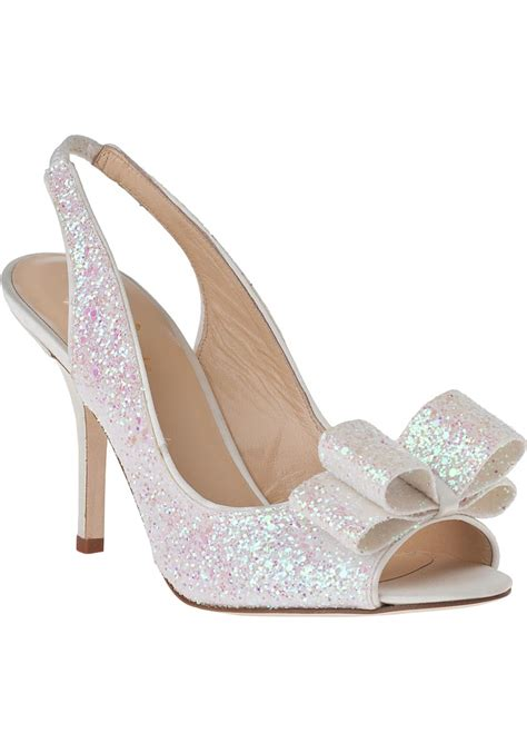 Charm Heels kate spade new york charm slingback ivory glitter in