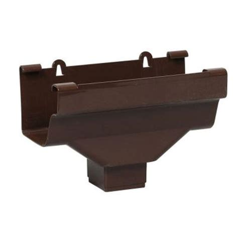 amerimax home products brown vinyl k style drop outlet