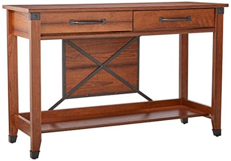 sauder carson forge sofa table washington cherry finish sauder carson forge sofa table washington cherry finish
