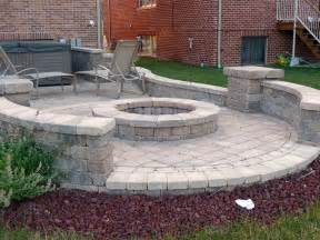 Patio Pavers Toledo Backyards Firepit With Bricks Pavers Patios Bricks