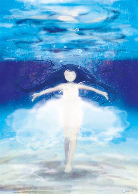 anime underwater anime underwater illustration we