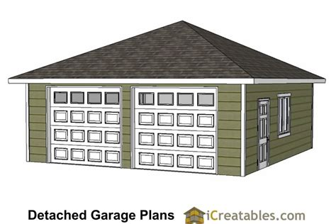 20x20 2 car 1 door detached garage plans 24x24 garage plans 24x24 garage plans