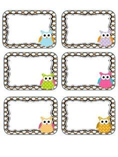 printable owl name tags owl nametags cubby labels