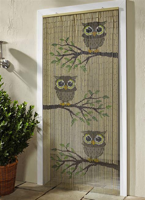 vorhang aus bambus bambus vorhang quot eulen sichtschutz und sonnenschutz