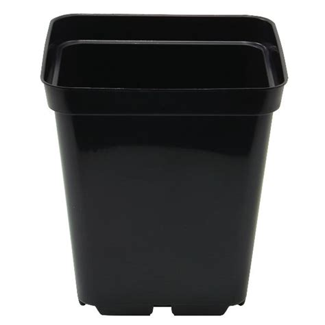 black square plant pots 3 litre black square plant pot