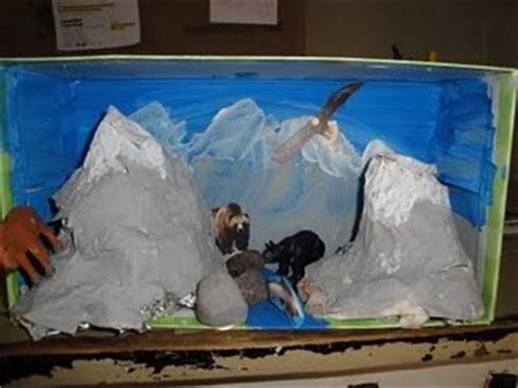 How To Make A Mountain With Paper Mache - dioramas our journey westward