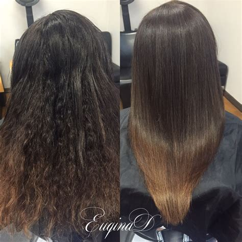 brazian blow out on curly hsir brazilian blowout on curly hair ombre by euqinad hair