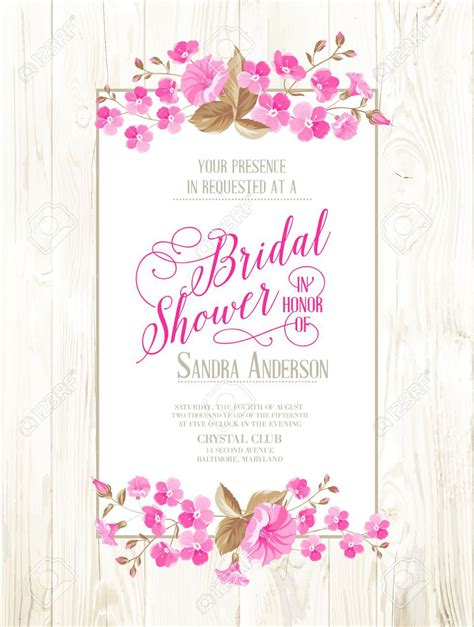 cards for bridal shower template invitations templates vintage wedding shower invitations
