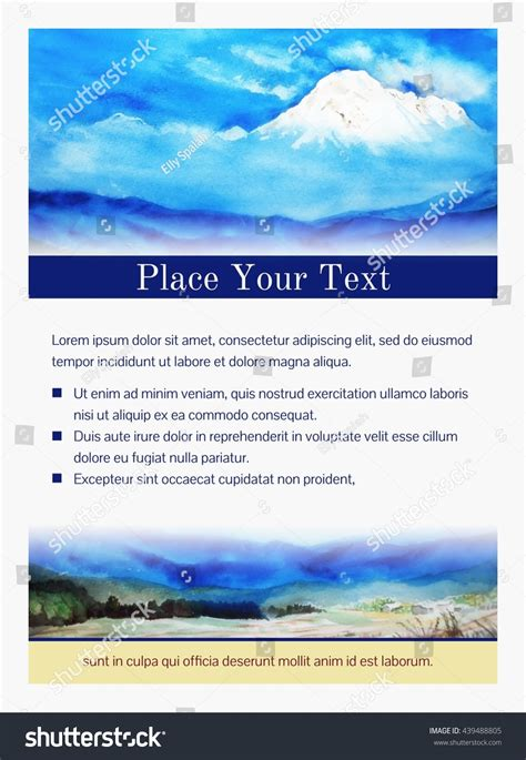 landscape greeting card template invitation or greeting card or flyer template with