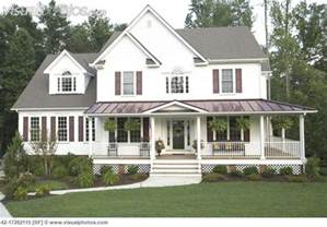 Country Style House by Wrap Around Porch Country Style House Houses