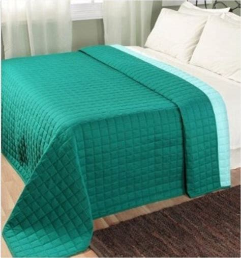 modern coverlets for beds quilted reversable bedspread teal blue modern