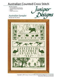 Juniper Designs Oh 15 by Australian Rainforest Bookmark Counted Cross Stitch Kit
