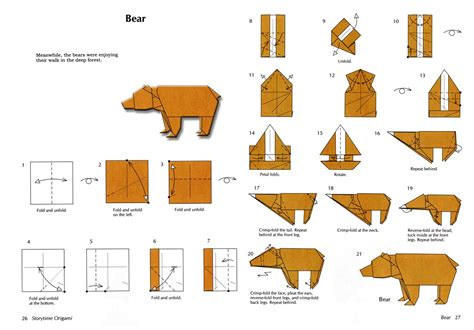 Origami Bears - pin origami on