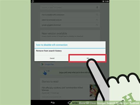 delete search history android how to clear search history on android 8 steps