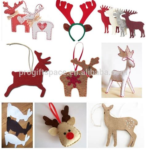 reindeer craft to sell 2018 sell ecofriendly handmade craft laser cut polyester felt outdoor hanging