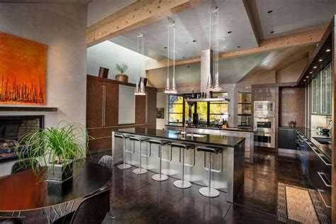 exposed ceiling beams in kitchen rattan bar stools home 35 beautiful rustic kitchens design ideas designing idea