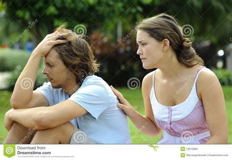 how to comfort a girlfriend girl comforts boy stock photos image 13572683