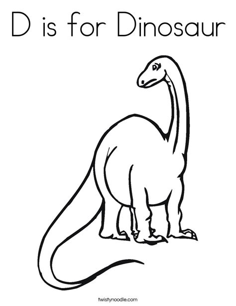 letter d dinosaur coloring page d is for dinosaur coloring page twisty noodle