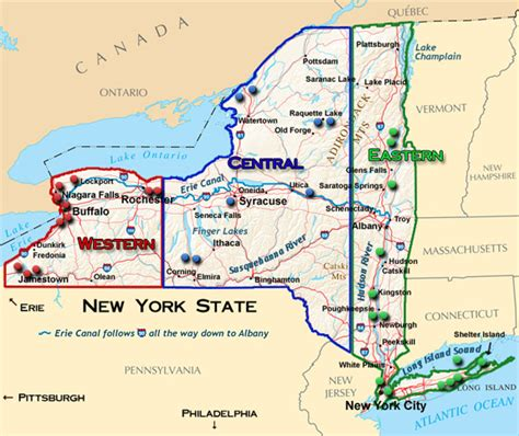 state map of new york plan a cruise on one of new york state s magnificent