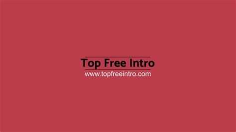 intro templates after effects after effects 2d intro template 17 topfreeintro