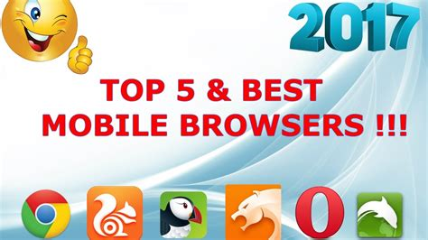 browsers for android top 5 best mobile browsers for android device 2017 new browser for cloud 2