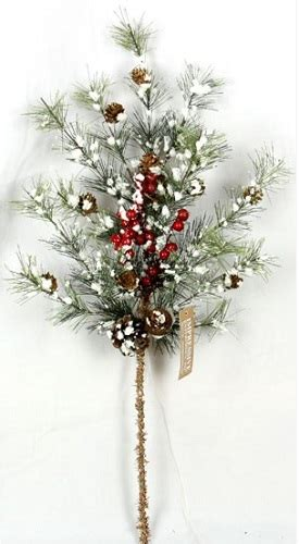 christmas floral picks and stems picks decorative flowers stems and more