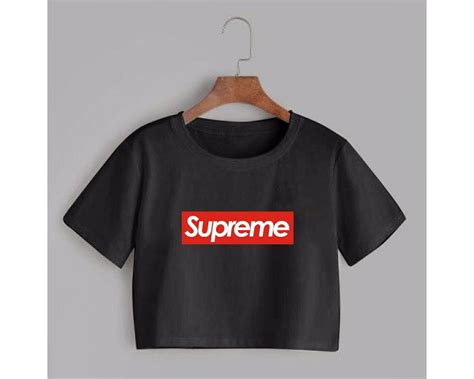 Crop Hitam Bahan Spandek Soft Allsize Fit To L baju korea crop supreme hitam