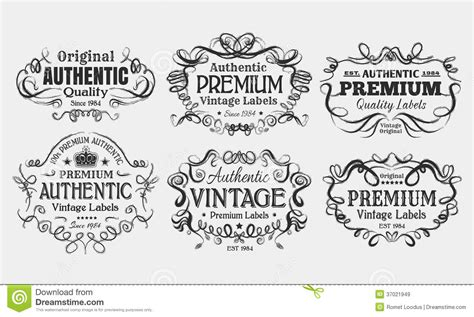 vintage labels royalty free stock images image 37021949