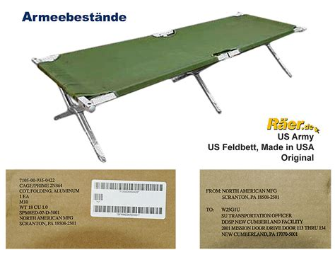 Kingbang Made In Usa Original us feldbett made in usa original army a bundeswehr shop r 228 er hildesheim