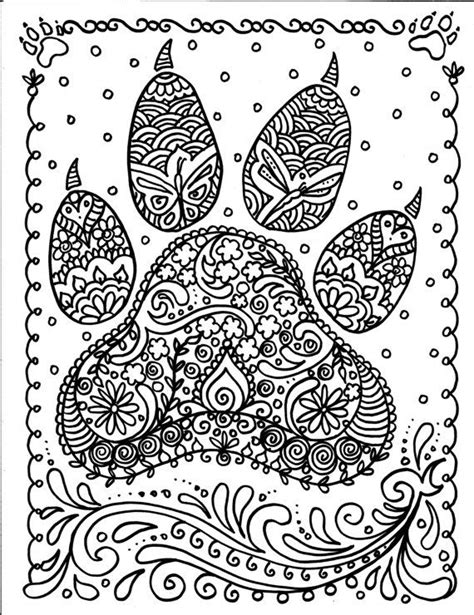 coloring books for adults dogs instant paw print you be the artist by