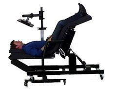 ergonomic lay desk supine workstation a relax the back zero gravity