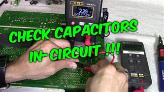 how to check bad capacitors with multimeter 3 ways to check capacitors in circuit with meters testers