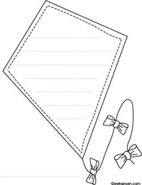 printable paper kite pattern 7 best images about printable worksheets writing papers